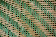 Detail van kleurrijk mandewerk Stock Fotografie