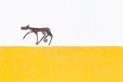 Detail van kleurrijke muur in Mertola, Portugal Stock Foto's
