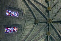 Detail van kluis van Kathedraal van Onze Dame van Gunst en Heilige Juli stock foto's