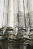 Detail van kolommen in Lissabon, Portugal. stock foto