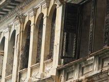 Detail van koloniaal huis Stock Afbeeldingen