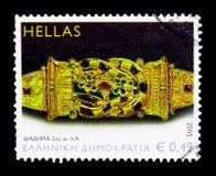 Detail van kroon met Heraclion-knoop 2de cent B C , Het Oude Grieks Royalty-vrije Stock Afbeelding