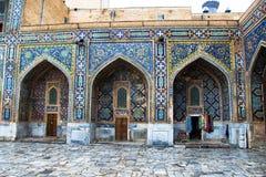 Detail van Madrasah, Registan-vierkant, Samarkand, Oezbekistan Stock Afbeeldingen