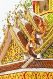 Detail van MAI van het de tempeldak van Doi Sthep chiang Stock Afbeeldingen