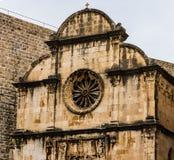 Detail van majestueuze kathedraal in oude stad Dubrovnik, beroemde historische en toeristische bestemming in Europa royalty-vrije stock afbeeldingen