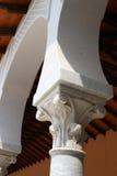Detail van marmeren kolommen. Het museum Caes van Ralli Stock Foto
