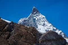 Detail van Matterhorn, Zermatt, Zwitserland Stock Foto's