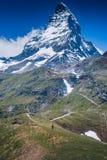 Detail van Matterhorn, Zermatt, Zwitserland Stock Afbeeldingen