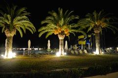 Detail van Messonghi-Strandtoevlucht bij nacht Royalty-vrije Stock Foto