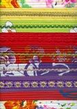 Detail van met de hand gemaakt lapwerkstof Royalty-vrije Stock Foto's