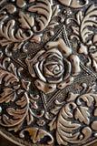 Detail van metaalontwerp wordt geschoten voor achtergrondtextuur die Royalty-vrije Stock Foto
