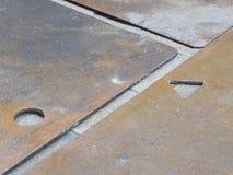 Detail van metaalplaten Stock Afbeelding