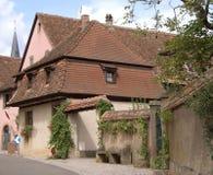 Detail van Mittelbergheim stock foto