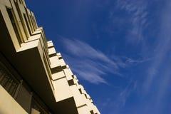 Detail van modern flatgebouw Stock Foto