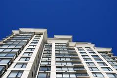 Detail van modern flatgebouw in Vancouver Royalty-vrije Stock Afbeeldingen