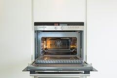Detail van moderne oven stock afbeeldingen