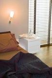 Detail van moderne slaapkamer Stock Foto
