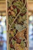 Detail van nagel van drijvend paviljoen in Royal Palace, Klungkung Bali Indonesi? stock afbeeldingen