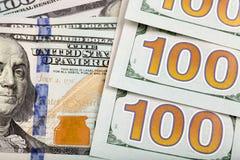 Detail van nieuwe rekening 100 Stock Afbeelding