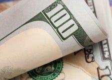 Detail van nieuwe rekening 100 Stock Foto