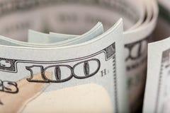 Detail van nieuwe rekening 100 Royalty-vrije Stock Afbeeldingen