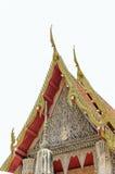 Detail van ornately verfraaid tempeldak in Thailand Stock Foto's
