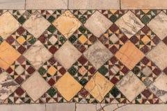 Detail van oud abstract ceramisch mozaïek Stock Foto's