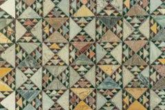 Detail van oud abstract ceramisch mozaïek Stock Foto