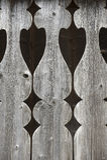 Detail van oud balkontraliewerk Stock Foto's