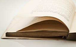 Detail van oud boek Stock Afbeeldingen