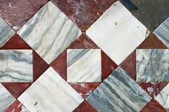 Detail van oud kleurrijk mozaïek. Stock Afbeelding