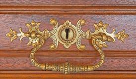 Detail van oud meubilair stock fotografie