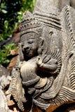 Detail van oude Birmaanse Boeddhistische pagoden Stock Afbeelding