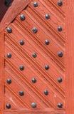 Detail van oude deur bij middeleeuwse huizen in Schotten royalty-vrije stock afbeelding