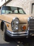 Detail van Oude Duitse limousine, Mercedes Benz Royalty-vrije Stock Fotografie