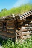 Detail van oude logboek-cabine royalty-vrije stock foto