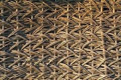 Detail van oude rieten omheining royalty-vrije stock afbeelding