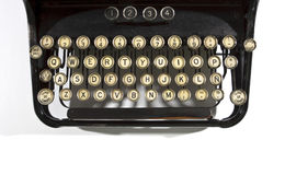 Detail van Oude Schrijfmachine Stock Afbeeldingen