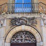 Detail van Oude Sienna Building, Italië royalty-vrije stock fotografie