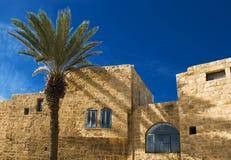 Detail van oude stad Jaffa stock afbeelding