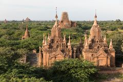 Detail van oude tempels in Bagan, Myanmar (Birma royalty-vrije stock fotografie