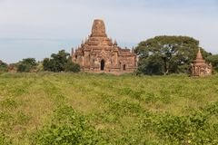 Detail van oude tempels in Bagan, Myanmar (Birma stock afbeelding