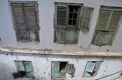 Detail van oude vensters, de Stad van de Steen, Zanzibar Royalty-vrije Stock Fotografie