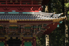 Detail van pagodedak bij tempel Tosho -tosho-gu in Nikko Stock Afbeelding