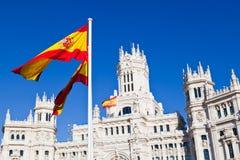 Detail van Palacio DE Comunicaciones, Madrid Stock Afbeelding