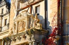 Detail van Peles-kasteel Stock Afbeeldingen