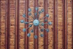 Detail van plafond en lamp in Cantacuzino-kasteel, Prahova-provincie Stock Afbeelding