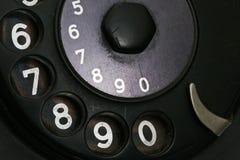 Detail van retro telefoon Stock Foto's