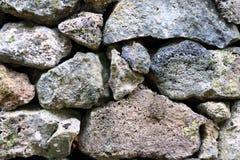 Detail van rotsen in een droge steenmuur Stock Fotografie