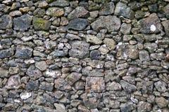 Detail van rotsen in een droge steenmuur Stock Foto